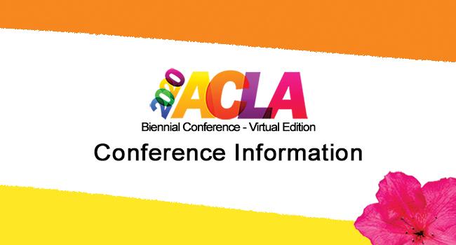 ACLA Website Conference Information Header